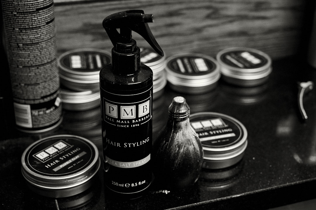 Sea salt spray from Pall Mall Barbers perfect for long hair