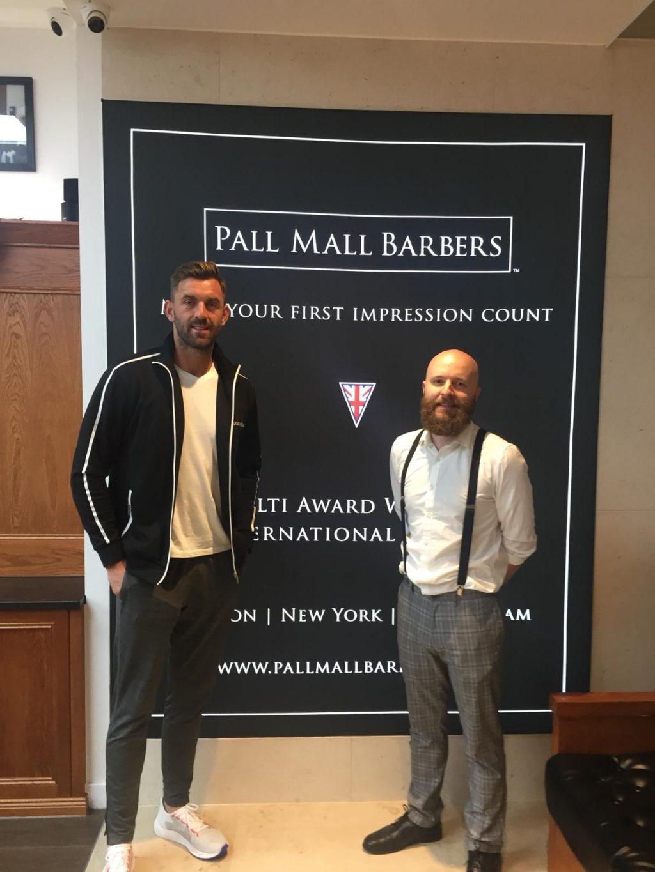 Liam Plunkett visits Birmingham Barbershop